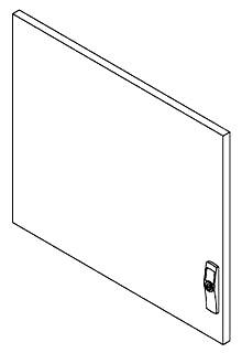Hoffman PDST86PC 23.27 x 23.07 Inch 16 Gauge Steel Solid Modular? Enclosure? System Door