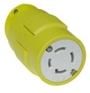 Woodhead 2975 3-Pole 4-Wire 30 Amp 250 Volt NEMA L15-30 Yellow Locking Connector