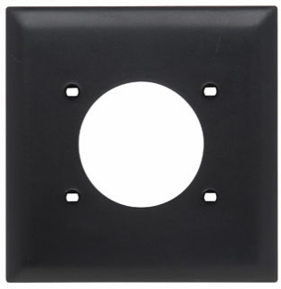 Pass & Seymour TP703BK Black Two Gang Power Outlet Receptacle Opening Plate