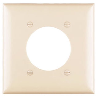 Pass & Seymour TP703GRY 2-Gang 1-Power Outlet Receptacle Gray Nylon Standard Unbreakable Wallplate