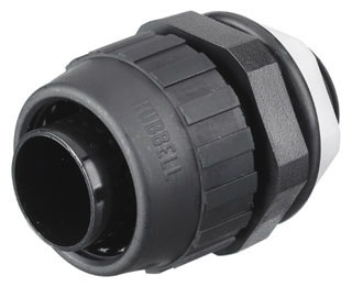 Hubbell Wiring Devices P038NBKA 3/8 Inch Black Straight Male Non-Metallic Liquidtight Connector