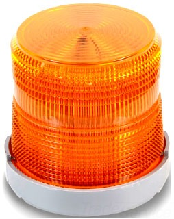 Edwards Signaling 48XBRMA120A 120 VAC 0.108 Amp Amber Polycarbonate Flashing or Steady-On LED Multi-Mode Beacon