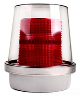 Edwards Signaling 92-LR Red Lens for use with 92 Series Beacons