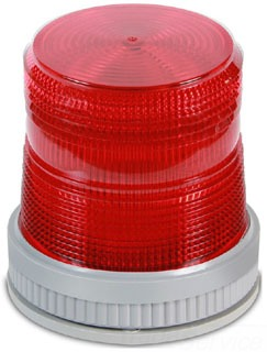 Edwards Signaling 105XBRMR120A 120 VAC 0.108 Amp Red Polycarbonate Flashing or Steady-On LED Multi-Mode Beacon