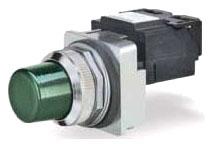 Siemens Industry US2:52PL4M3 30 mm 120 VAC Green Plastic Round Pilot Light