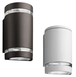 Lithonia Lighting OLLWU-DDB-M6 Outdoor LED Wall Light with Up and Down Light in Dark Bronze