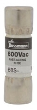 Bussmann Series BBS-1-1/2 1-1/2 Amp 600 VAC Midget Fast Acting Fuse