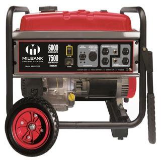 Milbank MPG6000S 240 VAC 1-Phase 6 kW 3600 RPM Portable Generator