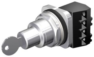 Siemens Industry 52SC6AEK1 30 mm 600 Volt 2-Position 1NO Chrome Metal Bezel Maintained Non-Illuminated Selector Switch