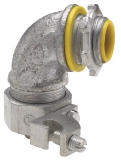Crouse-Hinds Series LTB7590G 3/4 Inch Malleable Iron Insulated 90 Degrees Liquidtight Conduit Connector