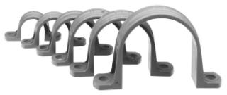 PVC 2-1/2 2-HOLE CONDUIT CLAMP