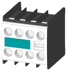 Siemens Industry 3RH1911-1FA11 230 Volt 6 Amp 2/4-Pole 1NO 1NC Screw Terminal Contactor Auxiliary Switch Block