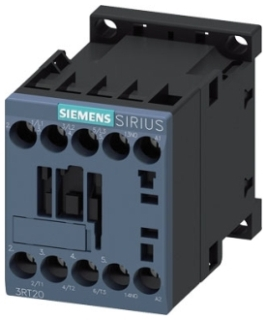 Siemens Industry 3RT20161AB02 24 VAC 9 Amp 3-Pole 1NC Screw Terminal IEC Contactor