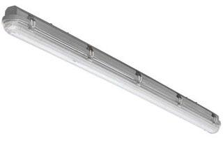 Lithonia Lighting XWLED4 120 4 Foot 24 W 120 Volt 1800 Lumen 4000 K Polycarbonate Lens Slim LED Wet Light