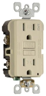 Pass & Seymour AF15TRI TradeMaster Ivory Tamper Resistant Outlet Branch Circuit AFCI Receptacle