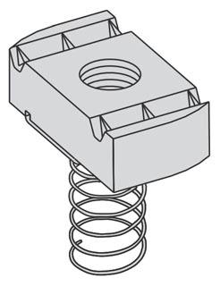 B-Line Series N527ZN 1/4 Inch Spring Nut