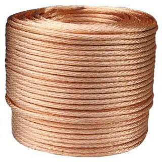 Bare Soft Drawn 1/0 AWG 19 Strand Copper 500 Foot Reel Cable