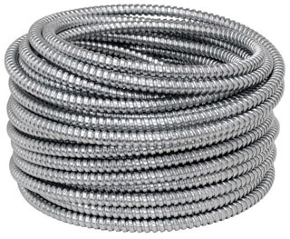 1-1/4 Inch Hot Dip Galvanized Steel Flex Conduit, 50 Foot