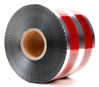 3M 413 Caution Buried High Voltage Cable Below Red 6 Inch x 1000 Foot Barricade Tape