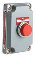 Hubbell Electrical Systems XCS-0B2 Momentary Contact Single Red Push Button Control Station Cover with Device