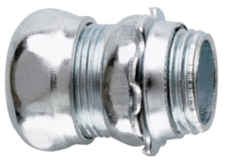 Crouse-Hinds Series 658 3-1/2 Inch Steel Non-Insulated Compression Straight EMT Connector