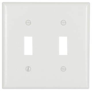 EWD 2139W Wallplate 2G Toggle Therm