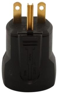 EWD AH5666BK Plug 15A 250V 2P3W Str