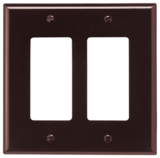 EWD PJ262B Wallplate 2G Decorator P