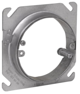 Crouse-Hinds Series AMR0 3/4 to 1-1/2 Inch Steel Round Adjustable Square Box Mud Ring