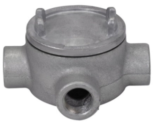 Crouse-Hinds Series GUAX26 3/4 Inch Hub 3 Inch Cover Opening Cast Iron Conduit Outlet Box with Cover