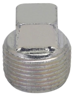 Crouse-Hinds Series PLG65 2 Inch Gray Iron Alloy Square Head Conduit Plug