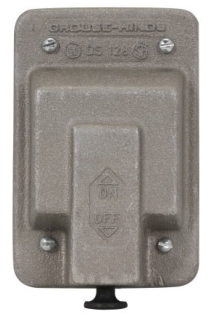 Crouse-Hinds Series DS128 1-Gang Aluminum Raintight Blank Device Box Cover with Gasket
