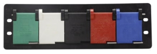 Crouse-Hinds Series E0200-1687 2 to 2/0 AWG Green/White/Black/Red/Blue Steel Female Receptacle Panel