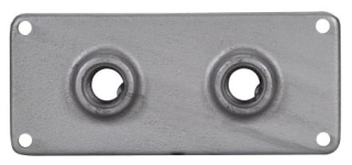 Crouse-Hinds Series RSP33 1 Inch 8-1/2 x 4 Inch Iron Alloy Junction Box Conduit Hub Plate