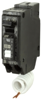GE Industrial Solutions THQL1115AF2 1-Pole 15 Amp 120 VAC Plug-In Combo Circuit Breaker