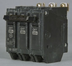 GE Industrial Solutions THQB32015 3-Pole 240 Volt 15 Amp Circuit Breaker