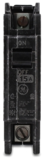 GE Industrial Solutions THQC1115WL 120/240 Volt 15 Amp 10 kaic 1-Pole Circuit Breaker with Lugs
