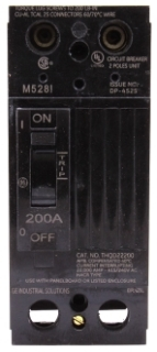 GE Industrial Solutions THQD22225X2 2-Pole 225 Amp 240 Volt 10 Kaic Molded Case Circuit Breaker