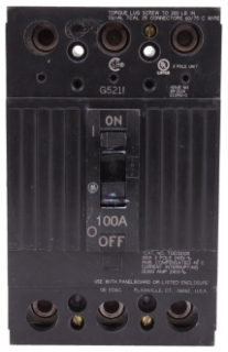 GE Industrial Solutions TQD32100WL 3-Pole 240 Volt 10 kaic 100 Amp Circuit Breaker with Lug