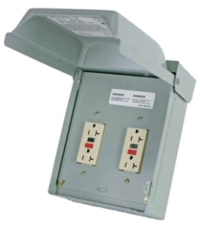 Midwest Electric Products U012010 120 Volt 20 Amp Galvanized Steel Unmetered Power Outlet