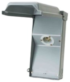 Midwest Electric Products U030N 120/240 Volt 30 Amp Galvanized Steel Unmetered Power Inlet