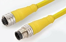 Molex Incorporated 884030K03M040 4-Pin 4 Amp 250 VAC/VDC 18 AWG 4 m Yellow Thermoplastic Elastomer Single Ended Cord Set