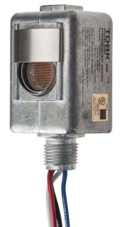 Tork 2107 120/277 VAC 2000 W Tungsten SPST Thermal Lighting Photocontrol