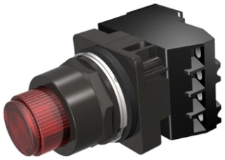 S-A 52BT6E2AB PUSHBUTTON_RED_ILL_1N