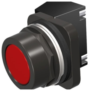 S-A 52PX8A2J PUSHBUTTON,MOM,RED,FLU