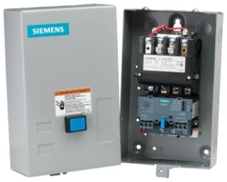 Siemens Industry 14FUF32BA 120/220 to 240 VAC 13 to 52 Amp 25 Hp 3-Phase 3-Pole Size 2 Non-Reversing NEMA Motor Starter