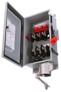 Siemens Industry HF363JCH 600 Volt 100 Amp 3-Pole 3-Wire NEMA 3R/3S/12 Heavy Duty Fusible Safety Switch