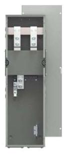 Siemens WTB1400CU 120/240 VAC 400 Amp 1-Phase 3-Wire 100 kA Meter Center Tap Box Module