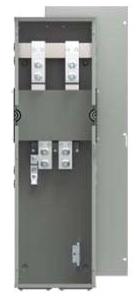 Siemens WTB3400CU 240 VAC 400 Amp 3-Phase 4-Wire 100 kA Meter Center Tap Box Module