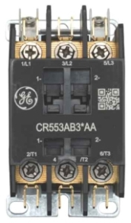 GE Industrial Solutions CR553AB3AAA 3-Pole 110 to 120 Volt 25 Amp Standard Full Voltage Definite Purpose Contactor